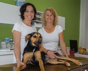 Dr. Hildegard Rexroth und Bianca Ksoll freuen sich auf Sie und Ihr Tier
